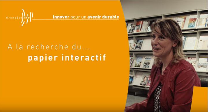 A la recherche du papier interactif par Nadège Reverdy-Bruas