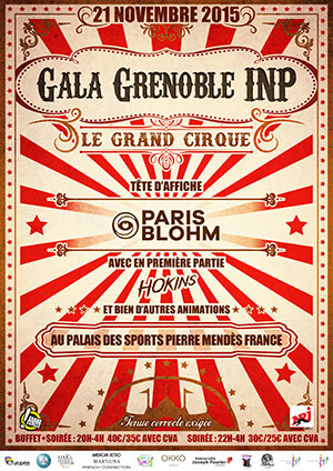 Affiche Gala Grenoble INP 2015