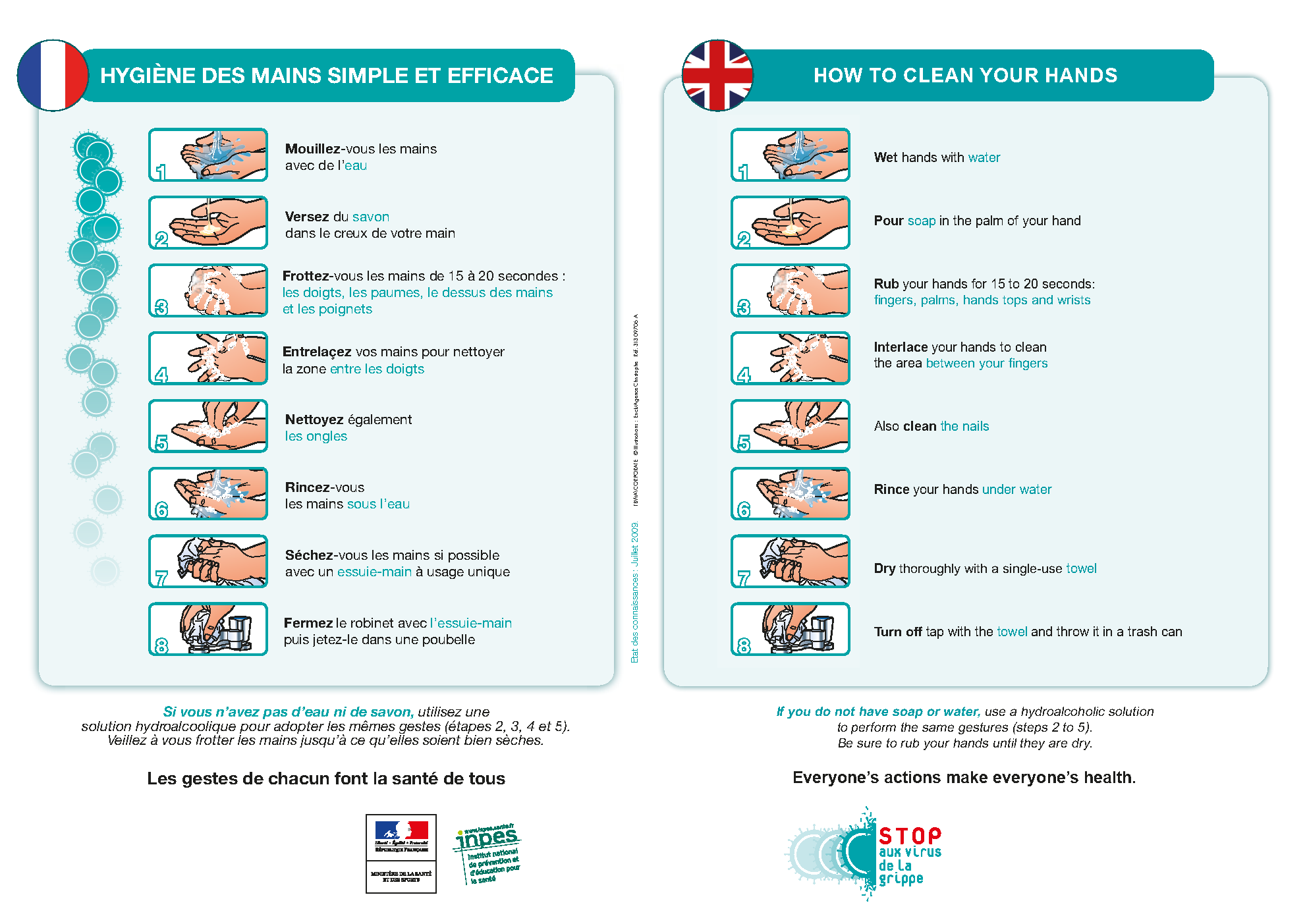 Affiche hygiène des mains