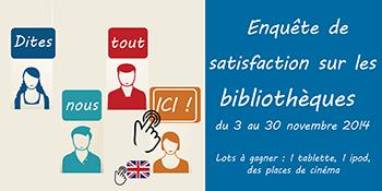 Bibliothèques : enquête de satisfaction