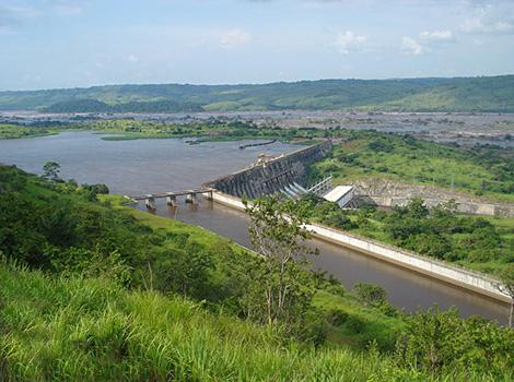 Barrage d'Inga, république démocratique du Congo