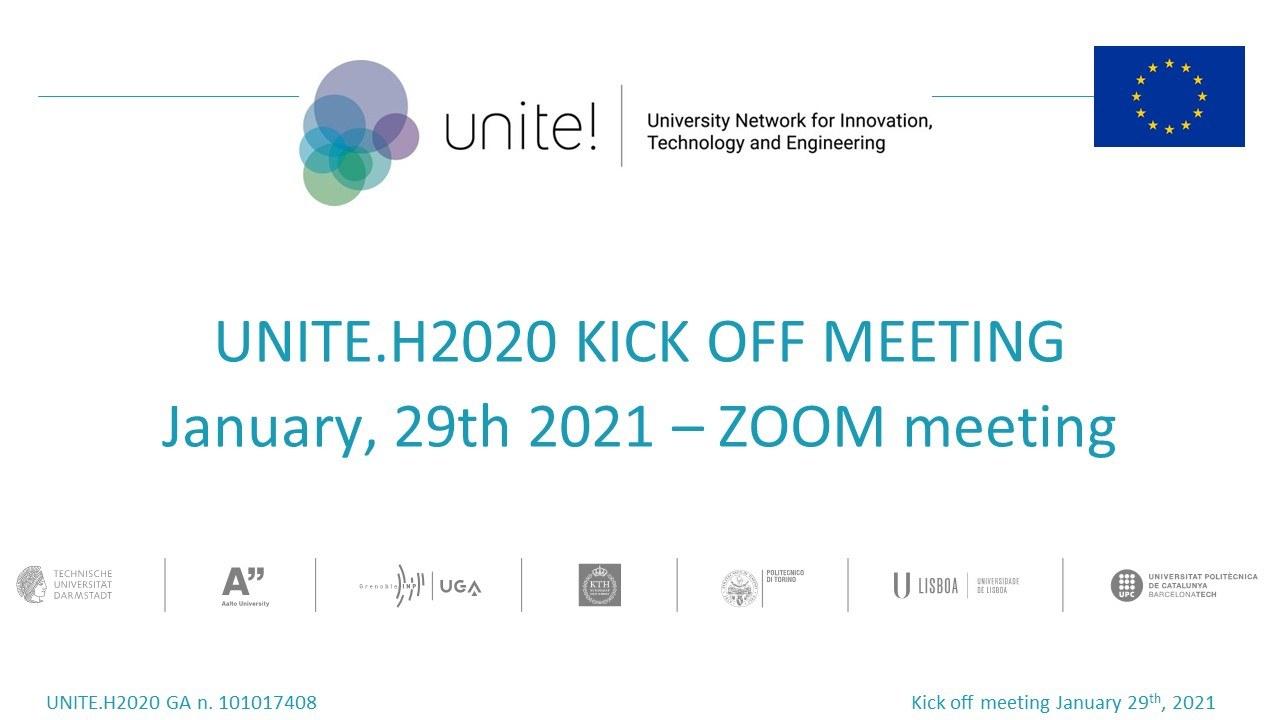 UniteH2020 KIckoff
