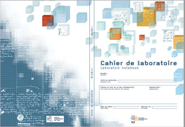 Couverture du cahier de laboratoire national
