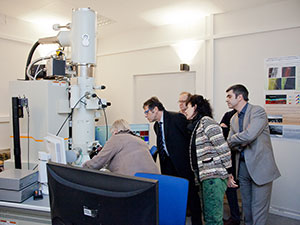 Inauguration du Microscope Electronique à Transmission - MET