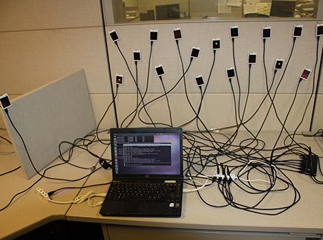 Plateforme de test de réseaux de capteurs au LIG