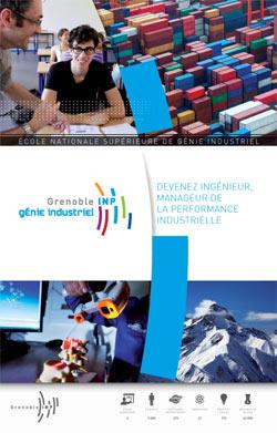Plaquette école d'ingénieurs Grenoble INP - Génie industriel 2012