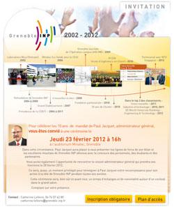 Carton d'invitation au bilan de mandat de Paul Jacquet