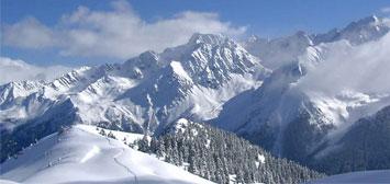 Les montagnes de la station de ski des 7 Laux