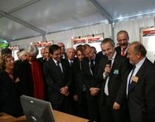 Le premier Ministre en visite à Grenoble le 24 septembre 2008