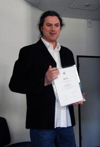 Franck Rousseau reçoit le prix ARTS