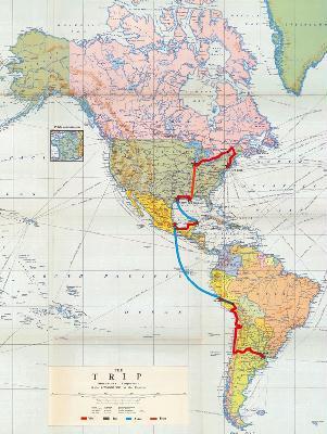 Phelma - Men in Bike - Carte du voyage
