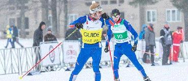 Lucas Duperrex, champion du monde du relais nordique handisport