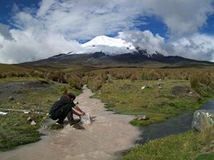 Relevé de données hydrobiologiques dans les Andes