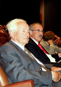 Philippe Traynard, à côté de Paul Jacquet, pour les 100 ans de l'EFPG