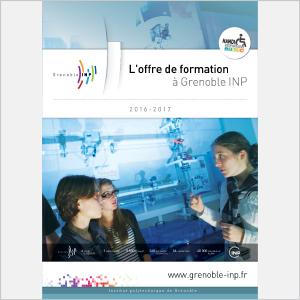 Grenoble INP - L'offre de formation - 2016 - Plaquette (vignette de la couverture)
