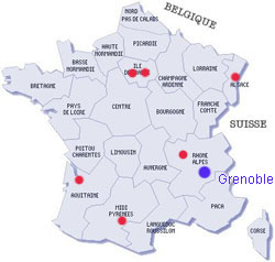 grenoble sur la carte de france